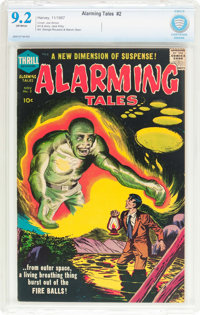 Alarming Tales #2 (Harvey, 1957) CBCS NM- 9.2 Off-white pages