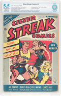 Golden Age (1938-1955):Superhero, Silver Streak Comics #3 (Lev Gleason, 1940) CBCS Restored (Slight/Moderate) FN- 5.5 Cream to off-white pages....