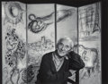 Photographs:Gelatin Silver, Yousuf Karsh (Canadian, 1908-2002). Marc Chagall, 1965. Gelatin silver, printed before 2002. 10-1/4 x 13 inches (25.9 x ...