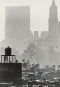 Photographs, André Kertész (Hungarian, 1894-1985). Soho Rooftops, New York, 1963. Gelatin silver, printed later. 9-3/4 x 6-5/8 inches...