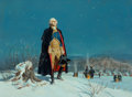 Mainstream Illustration, Walter Martin Baumhofer (American, 1904-1987). Prayer for theFuture, Washington at Valley Forge. Oil on canvas. 31.25 x...