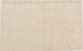 """Militaria:Ephemera, Union Soldier's Letter by Charles Hall of Company """"F"""", 8th IllinoisCavalry with Content Regarding the Pursuit of Rebels after..."""