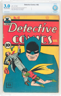 Detective Comics #42 (DC, 1940) CBCS GD/VG 3.0 Cream to off-white pages