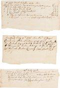 Miscellaneous:Ephemera, Revolutionary War Receipts (3) for Arms Dated July 1776....