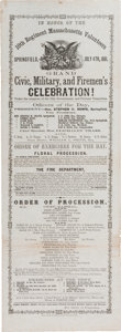 Militaria:Ephemera, Broadside Announcing a Celebration in Honor of the 10th RegimentMassachusetts Volunteers. ...