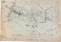 """Miscellaneous:Maps, Manuscript Map of the Battle of Chancellorsville Showing thePosition of the 11th Corps Moments Before """"Stonewall"""" Jackson'sA..."""