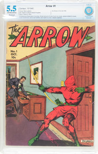 Arrow #1 (Centaur, 1940) CBCS Restored (Moderate) FN- 5.5 Off-white to white pages