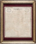 Miscellaneous, Declaration of Independence Printing on Linen. ...