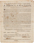 Miscellaneous:Broadside, [American Revolutionary War]. Proclamation Declaring the Cessationof Arms. Exeter, New Hampshire, April 24, 1783....