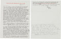 Autographs:Authors, Ernest Hemingway Typed Letter Signed to Marlene Dietrich.... (Total: 2 Items)