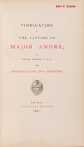 Books:Americana & American History, Egbert Benson. Vindication of the Captors of Major Andre,1865 Reprint of the 1817 Original....