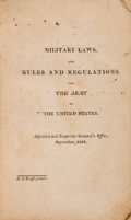 Militaria:Ephemera, Military Laws, and Rules and Regulations for the Army of theUnited States: Presentation Copy Inscribed by Callender I...