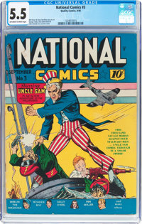 National Comics #3 (Quality, 1940) CGC FN- 5.5 Off-white to white pages
