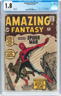 Amazing Fantasy #15 (Marvel, 1962) CGC GD- 1.8 Off-white to white pages
