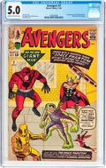 Silver Age (1956-1969):Superhero, The Avengers #2 (Marvel, 1963) CGC VG/FN 5.0 Cream to off-white pages....