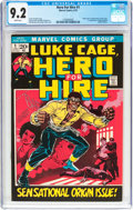 Bronze Age (1970-1979):Superhero, Hero for Hire #1 (Marvel, 1972) CGC NM- 9.2 White pages....