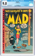 Golden Age (1938-1955):Humor, MAD #4 (EC, 1953) CGC VF/NM 9.0 Off-white to white pages....
