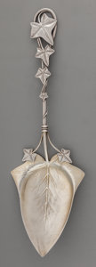 Silver & Vertu:Flatware, An American Silver Ivy-Motif Pie Server, circa 1870-1885. Marks: STERLING, 18. 10 inches long (25.4 cm). 2.64 troy ounce...