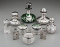 Silver Smalls:Other , Ten Silver, Enamel and Glass Vanity Articles, late 19th/20thcentury. Marks: (various marks). 4-1/8 inches high (10.5 cm) (t...(Total: 10 Items)