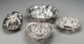 Silver Holloware, American:Bowls, Four Silver Bowls by Woodside, Redlich and Gorham, 20th century.Marks: (various marks). 2-7/8 inches high x 10 inches diame...(Total: 4 Items)