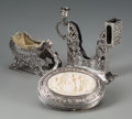 Silver Smalls, Three Pieces of German Silver, late 19th century. Marks: (variousmarks). 4-3/8 inches high (11.1 cm) (tallest). 12.21 troy ...(Total: 3 Items)