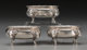 Three Peter L. Krider & Co. Silver Figural Open Salts, Philadelphia, Pennsylvania, circa 1870-1875 Marks: STERLI...