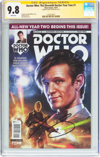 Doctor Who: The Eleventh Doctor Year Two #1 Signature Series (Titan Comics, 2015) CGC NM/MT 9.8 White pages