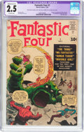 Silver Age (1956-1969):Superhero, Fantastic Four #1 (Marvel, 1961) CGC Apparent GD+ 2.5 Moderate (C-3) Off-white pages....