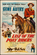 """Movie Posters:Western, Last of the Pony Riders & Others Lot (Columbia, 1953). One Sheets (2) (27"""" X 41"""") & Uncut Pressbooks (3) (Multiple Pages, 12... (Total: 5 Items)"""