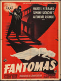 "Movie Posters:Crime, Fantômas (Cine Selection, 1947). French Affiche (23.5"" X 31.5"").Crime.. ..."
