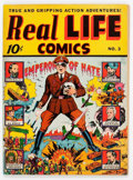 Golden Age (1938-1955):Non-Fiction, Real Life Comics #3 (Nedor Publications, 1942) Condition: ApparentVF....