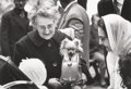 Photographs, Alfred Eisenstaedt (American, 1898-1995). Fifi in the handbag, Paris, 1963. Gelatin silver, 1995. 8-1/4 x 12 inches (21 ...