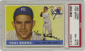 Baseball Cards:Singles (1950-1959), 1955 Topps Yogi Berra #198 PSA NM-MT 8. Topps was at its best when it produced the artwork for the 1955 issue. True portrait...