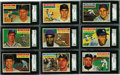 Baseball Cards:Lots, 1956 Topps SGC-Graded Collection (18). High-grade group with none falling below NM distinction, great collection from the po...