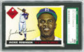 Baseball Cards:Singles (1950-1959), 1955 Topps Jackie Robinson #50 SGC 88 NM-MT 8. This card has theappearance of just being broken out of the pack. It displa...