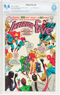 The Inferior Five #6 (DC, 1968) CBCS NM+ 9.6 White pages