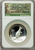 Australia, 2012-P $1 High Relief, Silver Kangaroo Dollar PR70 Ultra Cameo NGC.One of First 3000 Struck. NGC Census: (0). PCGS Populat...