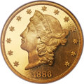 Proof Liberty Double Eagles, 1886 $20 PR67 Deep Cameo PCGS Secure....