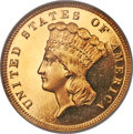 Proof Three Dollar Gold Pieces, 1883 $3 PR65 Deep Cameo PCGS Secure....