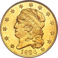 Early Half Eagles, 1826 $5 BD-1, R.5, MS62 PCGS. Gold CAC....