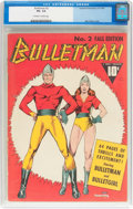 Golden Age (1938-1955):Superhero, Bulletman #2 (Fawcett Publications, 1941) CGC VG- 3.5 Off-white to white pages....