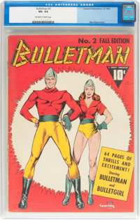 Bulletman #2 (Fawcett Publications, 1941) CGC VG- 3.5 Off-white to white pages