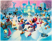 Carl Barks Mardi Gras Before the Thaw Signed Limited Edition Lithograph Print #79/350 (Another Rainbow, 1992)