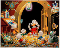 Carl Barks This Dollar Saved My Life At Whitehorse Signed Limited Edition Lithograph Print #46/345 (Another Rainbo