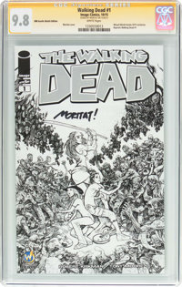 Walking Dead #1 Wizard World Austin Sketch Edition - Signature Series (Image, 2015) CGC NM/MT 9.8 White pages
