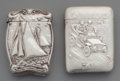 Silver Smalls:Match Safes, Two Blackinton Partial Gilt Silver Match Safes, North Attleboro,Massachusetts, circa 1900. Marks: B (sword), STERLING...(Total: 2 Items)