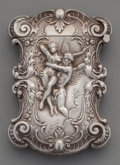 Silver Smalls:Match Safes, A Kerr Partial Gilt Silver Match Safe: Embrace, Newark, NewJersey, circa 1890. Marks: (fasces), STERLING, 44...