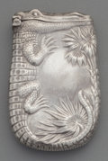 Silver Smalls:Match Safes, An American Silver Alligator Match Safe, circa 1910. Marks:STERLING. 2-3/8 inches high (6.0 cm). 0.72 troy ounce.FRO...