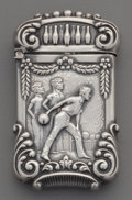 Silver Smalls:Match Safes, A Gilbert Silver Match Safe with Bowling Motif, North Attleboro,Massachusetts, circa 1905. Marks: STERLING, G. 2-1/2 in...