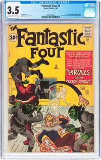 Fantastic Four #2 (Marvel, 1962) CGC VG- 3.5 Off-white to white pages